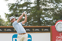 Wade Ormsby (AUS) in action on the 18th hole during third round at the Omega European Masters, Golf Club Crans-sur-Sierre, Crans-Montana, Valais, Switzerland. 31/08/19.<br /> Picture Stefano DiMaria / Golffile.ie<br /> <br /> All photo usage must carry mandatory copyright credit (© Golffile | Stefano DiMaria)