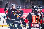 Stockholm 2013-12-28 Ishockey Hockeyallsvenskan Djurg&aring;rdens IF - Almtuna IS :  <br /> Djurg&aring;rden Michael Holmqvist har gjort 1-0 och jublar med Djurg&aring;rden Joakim Eriksson , Djurg&aring;rden Marcus S&ouml;rensen , Djurg&aring;rden Dustin Johner <br /> (Foto: Kenta J&ouml;nsson) Nyckelord:  jubel gl&auml;dje lycka glad happy