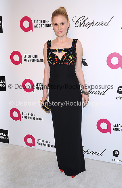 Anna Paquin Moyer  attends the 2014 Elton John AIDS Foundation Academy Awards Viewing Party in West Hollyood, California on March 02,2014                                                                               © 2014 Hollywood Press Agency