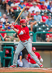11 March 2016: Philadelphia Phillies infielder Darin Ruf in action during a Spring Training pre-season game against the Atlanta Braves at Champion Stadium in the ESPN Wide World of Sports Complex in Kissimmee, Florida. The Phillies defeated the Braves 9-2 in Grapefruit League play. Mandatory Credit: Ed Wolfstein Photo *** RAW (NEF) Image File Available ***