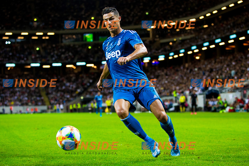 190810 of Juventus Cristiano Ronaldo during the International Champions Cup match between Atletico Madrid and Juventus on August 10, 2019 in Stockholm. <br /> Photo: Kenta Jönsson / BILDBYRAN / Insidefoto / Cop 210<br /> ITALY ONLY