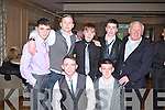 GREEN & GOLD: Having fun at the John Mitchels GAA annual dinner at the Ballygarry House hotel and Spa on Friday front l-r: Jared O'Sullivan and Cian Casey. Back l-r: Akeem Molloy, Niall Bridsall, Josh O'Reilly, Keith Madden and Jimmy O'Mahony.
