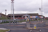23/06/2000 Blackpool FC Bloomfield Road Ground..West/South stands viewed from Lonsdale Rd Coach park.....© Phill Heywood.