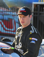 Feb 29, 2008; Las Vegas, NV, USA; NASCAR Sprint Cup Series driver Travis Kvapil during qualifying for the UAW Dodge 400 at Las Vegas Motor Speedway. Mandatory Credit: Mark J. Rebilas-