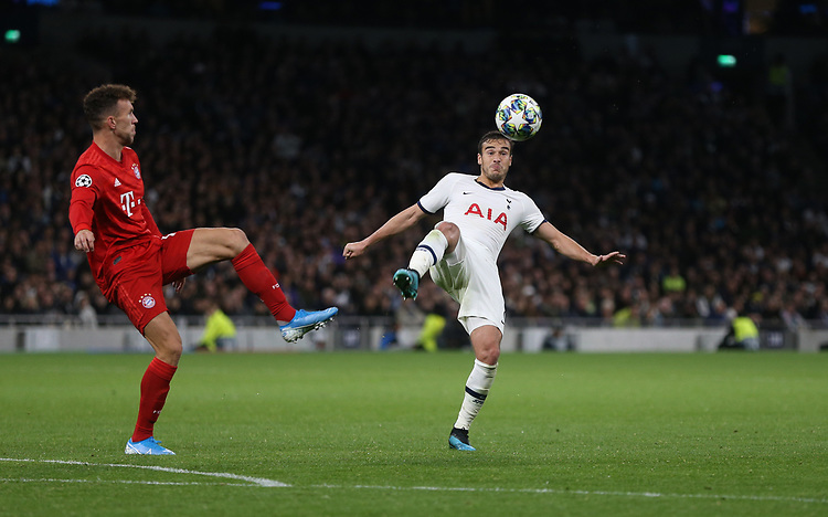 Tottenham Hotspur's Harry Winks and Bayern Munich's Ivan Perisic<br /> <br /> Photographer Rob Newell/CameraSport<br /> <br /> UEFA Champions League Group B  - Tottenham Hotspur v Bayern Munich - Tuesday 1st October 2019 - White Hart Lane - London<br />  <br /> World Copyright © 2018 CameraSport. All rights reserved. 43 Linden Ave. Countesthorpe. Leicester. England. LE8 5PG - Tel: +44 (0) 116 277 4147 - admin@camerasport.com - www.camerasport.com