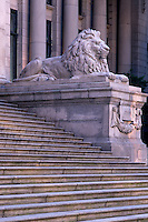 Court House Lion, at the North Portico of the Vancouver Art Gallery, Vancouver, BC