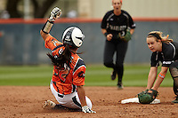 SAN ANTONIO, TX - APRIL 5, 2014: The University of North Carolina at Charlotte 49ers versus the University of Texas at San Antonio Roadrunners Softball at Roadrunner Field. (Photo by Jeff Huehn)