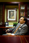 State Senator Zeb Little, majority leader, in his office at the Alabama State House in Montgomery, Alabama April 14, 2010.