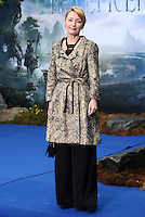 Lesley Manville arriving for the Maleficent Private Costume Reception, at Kensington Palace, London. 08/05/2014 Picture by: Alexandra Glen / Featureflash