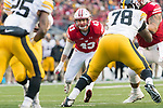 Wisconsin Badgers linebacker Ryan Connelly (43) during an NCAA College Big Ten Conference football game against the Iowa Hawkeyes Saturday, November 11, 2017, in Madison, Wis. The Badgers won 38-14. (Photo by David Stluka)