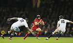 Luther Burrell and George Ford of England track Leigh Halfpenny of Wales- RBS 6Nations 2015 - Wales  vs England - Millennium Stadium - Cardiff - Wales - 6th February 2015 - Picture Simon Bellis/Sportimage