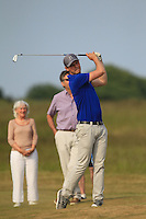 Jack Pierse (Portmarnock) on the 18th during Round 4 of the East of Ireland Amateur Open Championship sponsored by City North Hotel at Co. Louth Golf club in Baltray on Monday 6th June 2016.<br /> Photo by: Golffile   Thos Caffrey