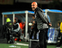 BOGOTÁ- COLOMBIA, 30-01-2019:Sebastián Méndez  director técnico del Cúcuta Deportivo reacciona durante el encuentro contra el Independiente Santa Fe    durante partido por la fecha 2 de la Liga Águila I  2019 jugado en el estadio Nemesio Camacho El Campín  de la ciudad de Bogotá. / Sebastian Mendez coach of Cucuta Deportivo reacts during match agaisnt of Independiente Santa Fe  during the match for the date 2 of the Liga Aguila I 2019 played at the Nemesio Camacho El Campin  stadium in Bogota city. Photo: VizzorImage / Cristian Álvarez / Contribuidor
