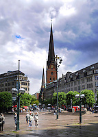 Hamburg square with Rathaus town hall