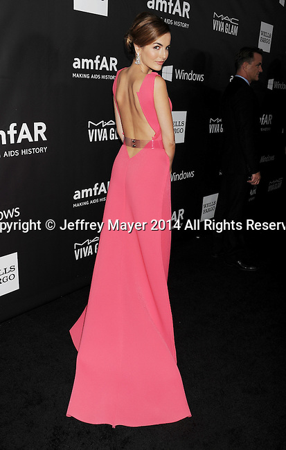 HOLLYWOOD, CA- OCTOBER 29: Actress Camilla Belle attends amfAR LA Inspiration Gala honoring Tom Ford at Milk Studios on October 29, 2014 in Hollywood, California.