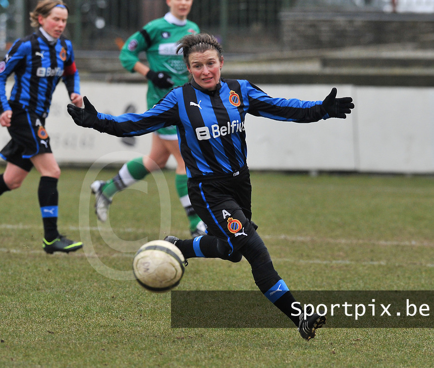 Club Brugge Dames - OHL Oud Heverlee Leuven : Christine Saelens.foto DAVID CATRY / Vrouwenteam.be
