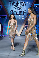 Bella Hadid, Naomi Campbell walks the runway during Fashion For Relief Cannes 2018 during the 71st annual Cannes Film Festival at Aeroport Cannes Mandelieu on May 13, 2018 in Cannes, France.<br /> CAP/NW<br /> &copy;Nick Watts/Capital Pictures