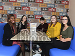 Judith Ugwuja, Niamh Cannon, Kenneth Fallon, Anna Brennan and Caitlin Harding at the opening of the new B's Diner at the Boomerang Cafe. Photo:Colin Bell/pressphotos.ie