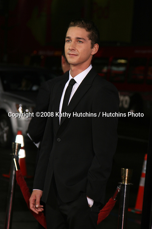 "Shia LaBeouf   arriving at the premiere of ""Eagle Eye"" at Mann's Chinese Theater in Los Angeles ,CA on.September 16, 2008.©2008 Kathy Hutchins / Hutchins Photo...."