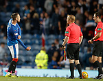 Danny Wilson joking with ref Don Robertson