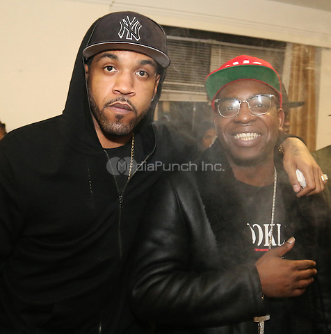 NEW YORK, NY - DECEMBER 18, 2012 50 Lloyd Banks & Uncle Murda backstage at the The Breakfast Club 5th Anniversary, December 18, 2015 at Manhattan Center in New York City. Credit: Walik Goshorn/MediaPunch