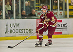 19 February 2016: Boston College Eagle Forward Colin White, a Freshman from Hanover, MA, in first period action against the University of Vermont Catamounts at Gutterson Fieldhouse in Burlington, Vermont. The Eagles defeated the Catamounts 3-1 in the first game of their weekend series. Mandatory Credit: Ed Wolfstein Photo *** RAW (NEF) Image File Available ***
