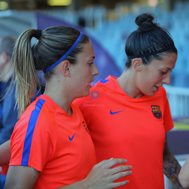 UEFA Women's Champions League 2016/2017.<br /> Quarter Finals.<br /> FC Barcelona vs FC Rosengard: 2-0.<br /> Alexia Putellas &amp; Jennifer Hermoso.