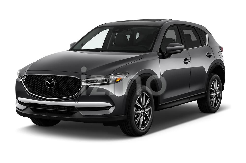 2018 Mazda CX-5 Grand-Touring 5 Door SUV Angular Front stock photos of front three quarter view