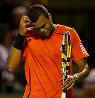 Jo-Wilfred TSONGA (FRA) against Rafael NADAL (ESP) in the quarter finals of the men's singles. Rafael Nadal beat Jo-Wilfred Tsonga 6-2..International Tennis - 2010 ATP World Tour - Sony Ericsson Open - Crandon Park Tennis Center - Key Biscayne - Miami - Florida - USA - Wed 31st Mar 2010..© Frey - Amn Images, Level 1, Barry House, 20-22 Worple Road, London, SW19 4DH, UK .Tel - +44 20 8947 0100.Fax -+44 20 8947 0117