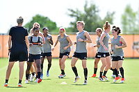 Houston, TX - Friday Oct. 07, 2016: Washington Spirit, Joanna Lohman during training prior to the National Women's Soccer League (NWSL) Championship match between the Washington Spirit and the Western New York Flash at Houston Sports Park.