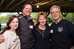 WATERTOWN, CT- 20 May 2016-052016EC18-  Social Moments. L to R: Joann Basile, Jesse Peterson, Paula LaBonte and Joel LaBonte attend the Greater Waterbury Campership Fund's annual fundraiser Thursday night. The event was at the Greater Waterbury YMCA's Camp Mataucha in Watertown. All money raised goes directly to the cost of sending children to camp. Erin Covey Republican-American Erin Covey Republican-American