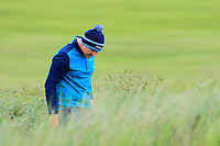Colm Campbell Jnr (Warrenpoint) looking for his ball on the 18th during Round 2 of The East of Ireland Amateur Open Championship in Co. Louth Golf Club, Baltray on Sunday 2nd June 2019.<br /> <br /> Picture:  Thos Caffrey / www.golffile.ie<br /> <br /> All photos usage must carry mandatory copyright credit (© Golffile   Thos Caffrey)