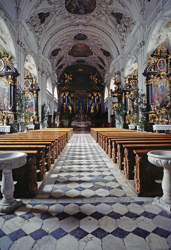 INTERIOR of CHURCH - INNSBROOK, AUSTRIA