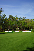 Masters Golf Tournament 2005, Augusta National Georgia, USA. Hole no. 13, Azalea. <br /> <br /> Champion 2005 - Tiger Woods <br /> <br /> Note: There is no property release or model release available for this image.