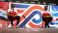 30th July 2020, Silverstone, Northampton, UK;  FIA Formula One World Championship 2020, Grand Prix of Great Britain, Antonio Giovinazzi ITA, Alfa Romeo Racing ORLEN and Kimi Raikkonen FIN, Alfa Romeo Racing ORLEN