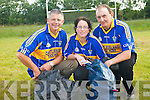 Cordal GAA club are hosting a clothes fund-raiser to help raise funds for the club. .L-R Mike Kearney, Martina O'Donoghue and Thade O'Donoghue.