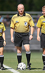 07 October 2007: Referee Bill Terry. The Duke University Blue Devils defeated the North Carolina State University Wolfpack 1-0 at Method Road Soccer Stadium in Raleigh, North Carolina in an Atlantic Coast Conference NCAA Division I Women's Soccer game.