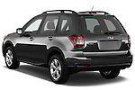 Car pictures of rear three quarter view of a 2015 Subaru Forester 2.5I Pzev 5 Door SUV angular rear