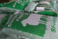 Bags of Compound sheep feed<br /> &copy;Tim Scrivener Photographer 07850 303986<br /> ....Covering Agriculture In The UK....