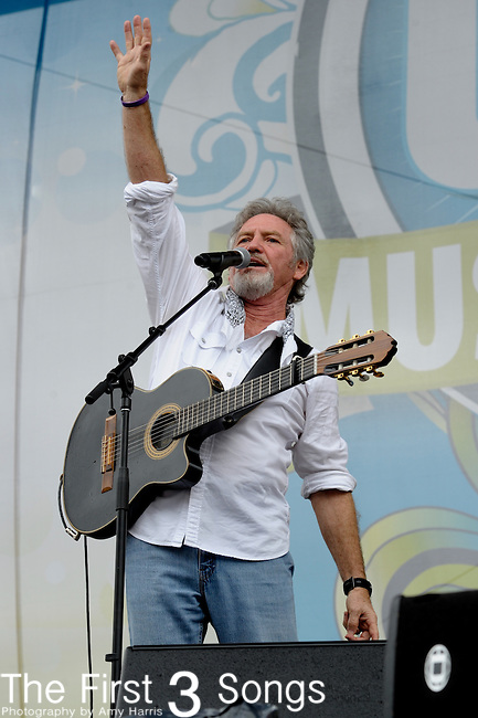 Larry Gatlin performs at the Riverfront Stage during the 2012 CMA Music Festival in Nashville, Tennessee.