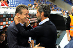 League Santander 2017-2018 - Game: 4.<br /> RCD Espanyol vs Celta: 2-1.<br /> Juan Carlos Unzue &amp; Quique Sanchez Flores.