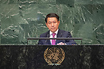 General Assembly Seventy-third session, 14th plenary meeting<br /> <br /> 	<br /> 	<br /> 	<br /> 	<br /> Lao People&rsquo;s Democratic Republic<br /> H.E. Mr. Saleumxay Kommasith<br /> Minister for Foreign Affairs