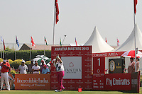 Jaakko Makitalo (FIN) on the 1st tee during Round 4 of the 2013 Avantha Masters, Jaypee Greens Golf Club, Greater Noida, Delhi, 17/3/13..(Photo Jenny Matthews/www.golffile.ie)