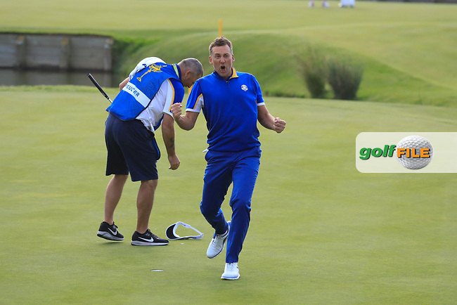 Ian Poulter (Team Europe) during the sunday singles at the Ryder Cup, Le Golf National, Paris, France. 30/09/2018.<br /> Picture Phil Inglis / Golffile.ie<br /> <br /> All photo usage must carry mandatory copyright credit (© Golffile | Phil Inglis)