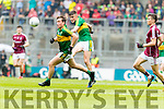 Dara Moynihan and Sean O'Shea Kerry in action against  Galway in the All Ireland Minor Football Final in Croke Park on Sunday.