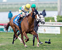 HALLANDALE BEACH, FL - December 30: #3 Ghostly Presence wins the $75,000 Tropical Park Oaks Stakes for trainer Roger L. Attfield with jockey Rafael Hernandez on board at Gulfstream Park on December  30, 2017, Hallandale Beach, FL (Photo by Bob Aaron/Eclipse Sportswire/Getty  Images)