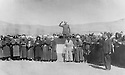 Iran 1946 . <br /> In Mahabad,on January 22nd,  the proclamation of the autonomous Kurdish Republic with Qazi Mohammed .<br /> Iran 1946 .<br /> A Mahabad,le 22 janvier,  declaration de la Republique autonome du Kurdistan en presence de Qazi Mohammed