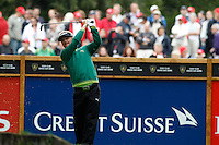 Soren Kjeldsen (DEN) on the 6th during the final day of the Omega European Masters, Crans-Sur-Sierre, Crans Montana, Switzerland.4/9/11.Picture: Golffile/Fran Caffrey..