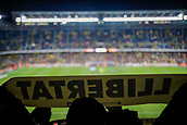 11th January 2018, Camp Nou, Barcelona, Spain; Copa del Rey football, round of 16, 2nd leg, Barcelona versus Celta Vigo; Llibertat banner during the first minutes of the match
