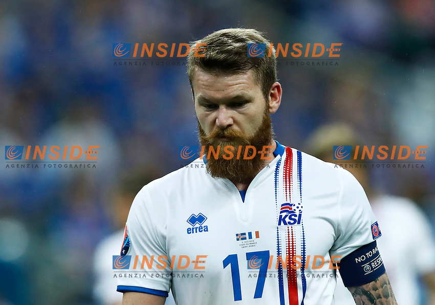 Aaron Gunnarsson (Iceland) <br /> Paris 03-07-2016 Stade de France Football Euro2016 France - Iceland / Francia - Islanda Quarter finals <br /> Foto Matteo Ciambelli / Insidefoto